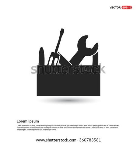 Vector Tool Box icon - stock vector