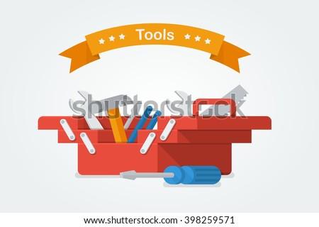 vector toolbox - stock vector