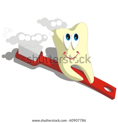 Vector. Tooth cartoon set 003 - stock vector