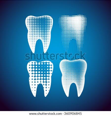 Vector Tooth Icon Symbol. Vector - stock vector