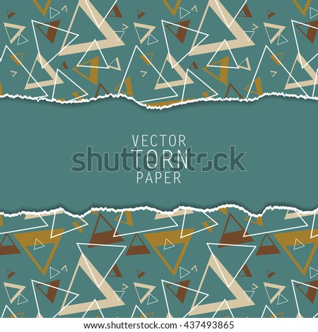 Vector torn paper background. Material desing elements. Elements for design, textured vector. Eps10 - stock vector