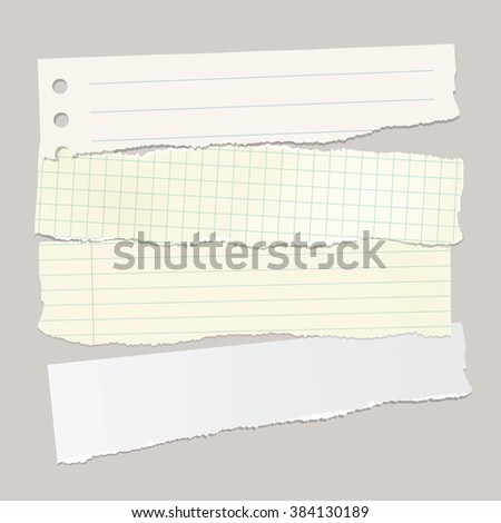 Vector torn pieces of paper. - stock vector