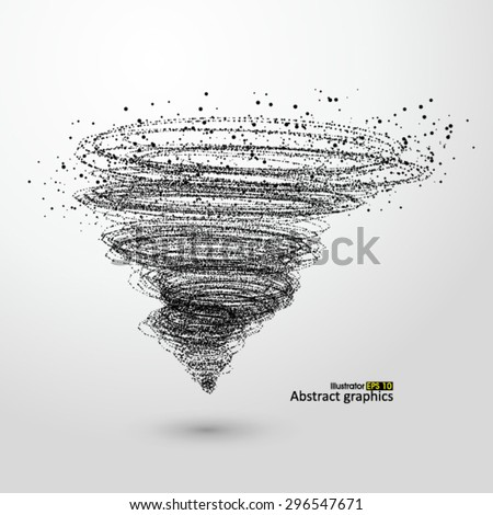 Vector Tornado,Particle Effects. - stock vector