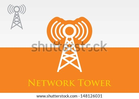 VECTOR TOWER - stock vector