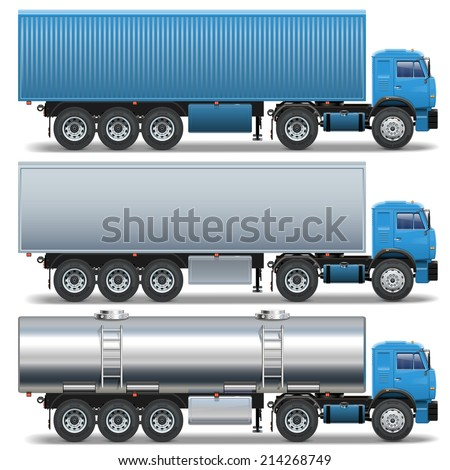 Vector Trailer Icons Set 2 - stock vector