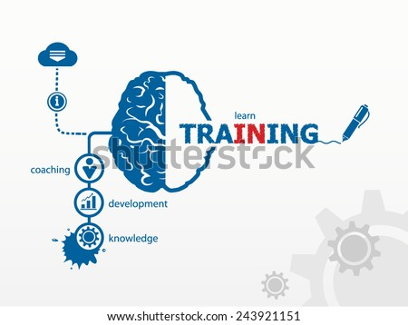 Vector training. Business vector concept for presentations and reports - stock vector