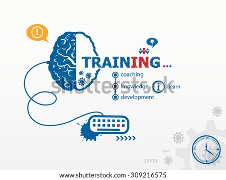 Vector training design illustration concepts for business, consulting, finance, management, career.   - stock vector