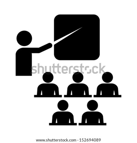 Vector training icon - stock vector