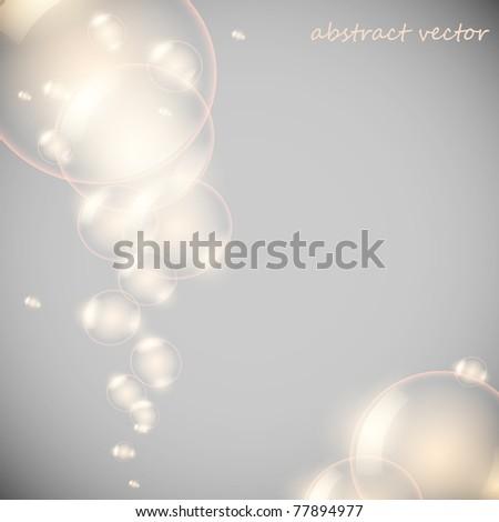 Vector transparency ball (soap bubble) - stock vector