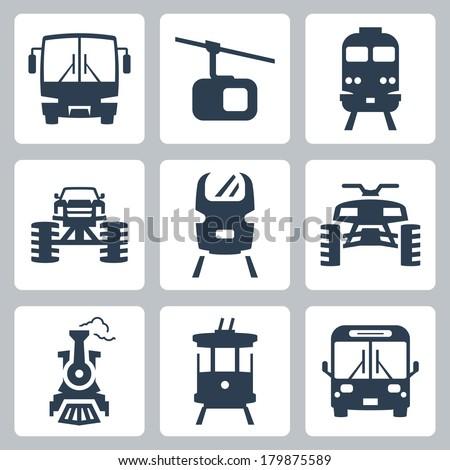 Vector transportation icons set - stock vector