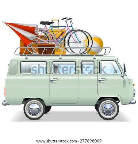Vector Travel Car - stock vector