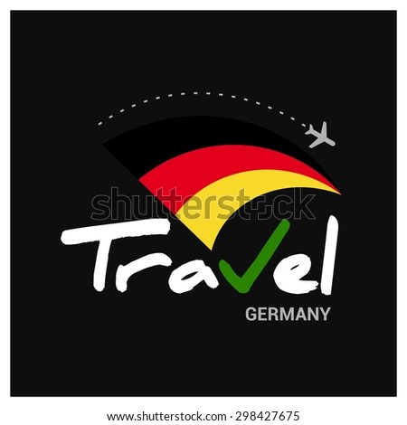 Vector travel company logo design - Country travel agency logo - Country Flag Travel and Tourism concept t shirt graphics - Travel Germany Symbol - vector illustration - stock vector