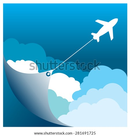 vector Travel holiday vacation suitcase ready for adventure concept - stock vector