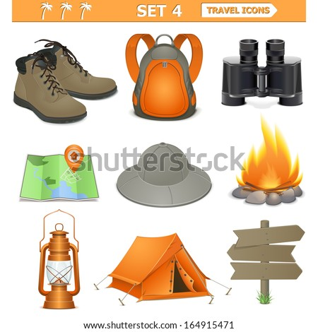 Vector travel icons set 4 - stock vector