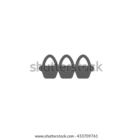 Vector Tray of Eggs Icon  on white background - stock vector