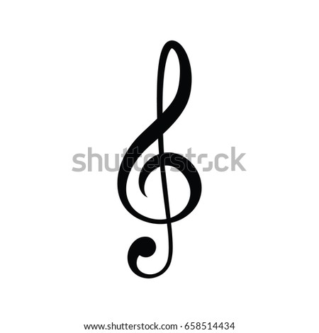 vector treble clef music note icon stock photo photo vector rh shutterstock com treble clef vector download treble clef vector graphic