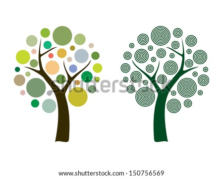 Vector tree 15 - stock vector