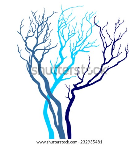 Vector tree - stock vector