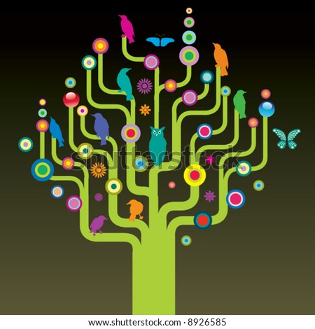 Vector tree - stock vector