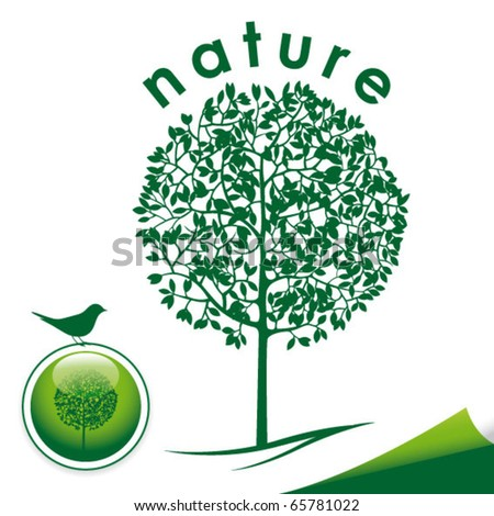 vector tree logo - stock vector
