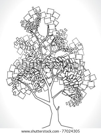 Vector tree made from squares