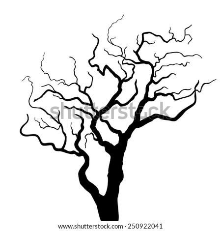 Vector tree silhouette - stock vector