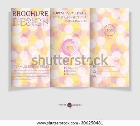 Vector tri-fold brochure template. Leaflet design template. EPS10 vector abstract flyer. - stock vector