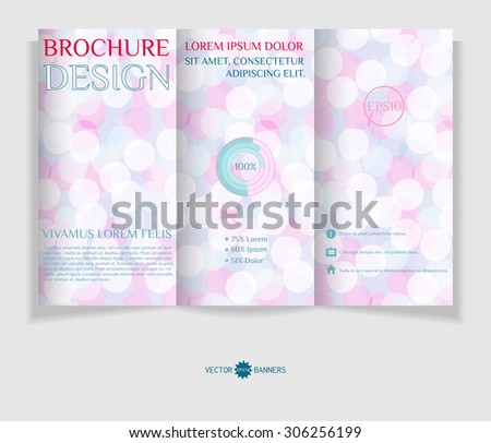 Vector tri-fold brochure template. Leaflet design template. EPS10 vector abstract flyer. - stock vector