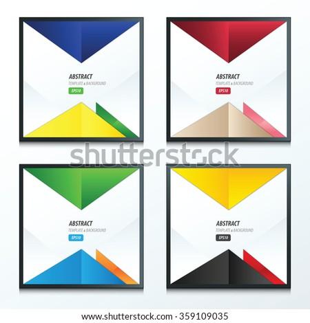vector triangle design 4 item - stock vector