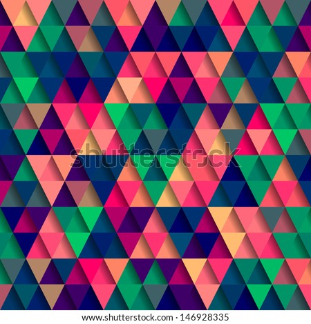 Vector Triangle Pattern - stock vector