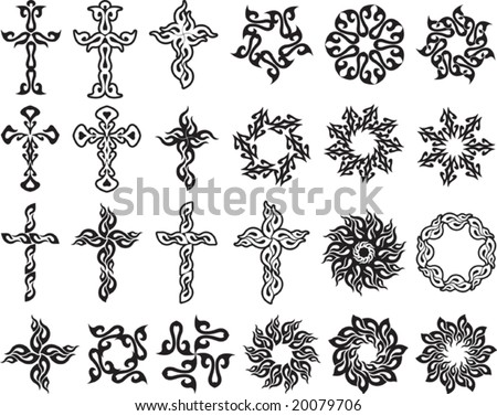 cross tribal tattoo stock images royalty free images vectors shutterstock. Black Bedroom Furniture Sets. Home Design Ideas
