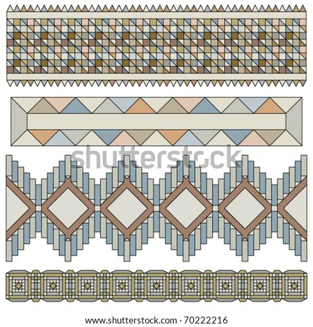 Vector trim or border collection