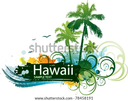 Vector tropical background - stock vector