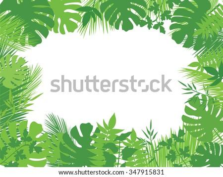 Tropical Rainforest Leaves Clip Art – Cliparts