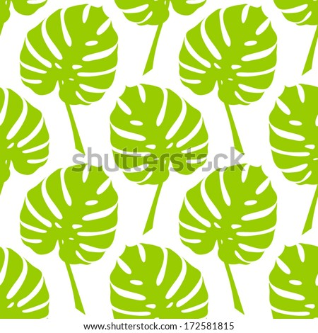 Vector tropical seamless floral pattern.Summer pattern with monstera leaves.Endless background. Vector nature backdrop. Tropical template. - stock vector