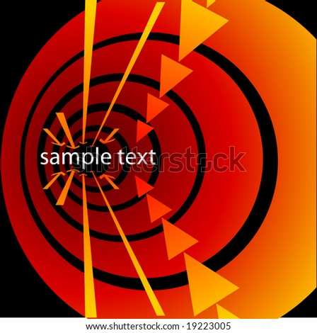 Vector tunnel, vortex with arrows in perspective, and copy space. See others in my portfolio. - stock vector