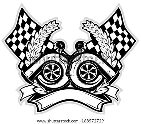 V8 Engine Tattoo Turbo Stock Images, Ro...