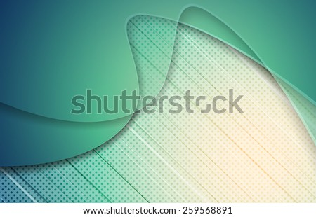 vector turquoise background with texture and wavy lines. Eps10 - stock vector