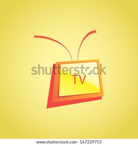 Vector TV-set - stock vector