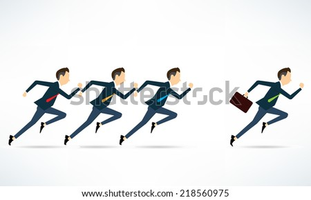 Vector two business man competitive business  - stock vector