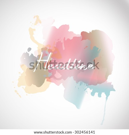 vector typographic illustration lettering composition. postcard design - stock vector