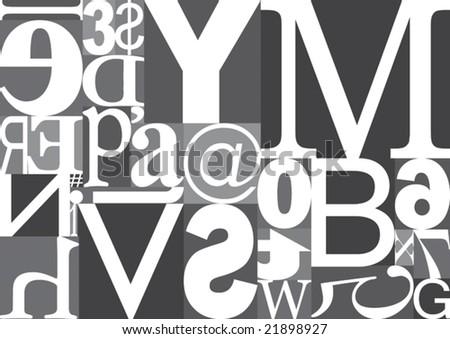 Vector Typography Blocks - stock vector