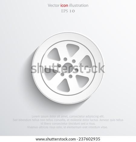 Vector tyre web icon. Eps 10. - stock vector