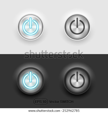 Vector UI switch button (on/off)