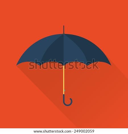 vector umbrella flat icon - stock vector