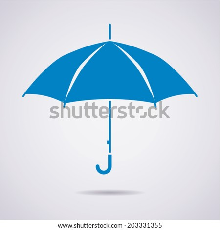 vector umbrella icon - stock vector