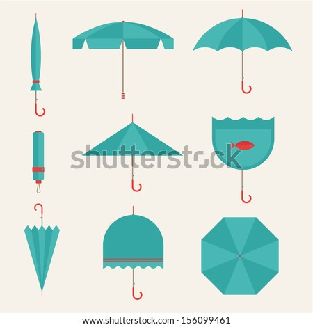 Vector umbrellas - stock vector