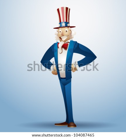 Vector uncle sam - stock vector