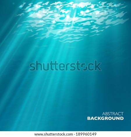 Vector under water background. - stock vector