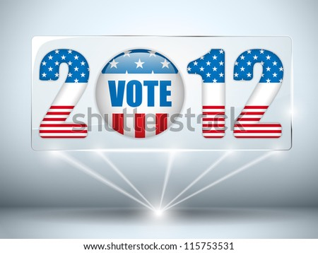 Vector - United States Election Vote Button Background. - stock vector